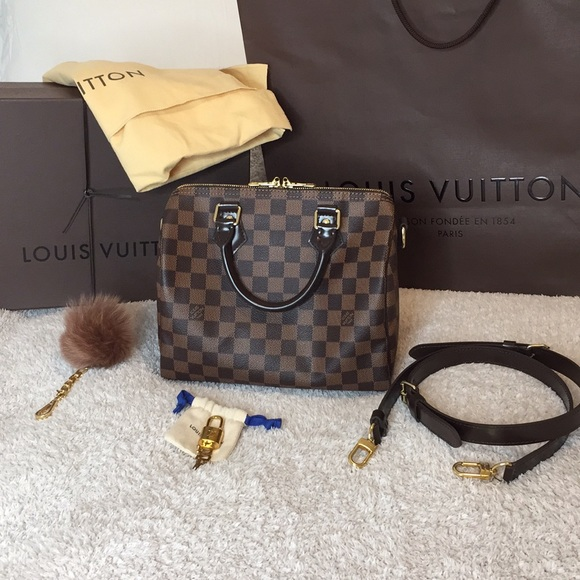 98c8824fb8c7 Louis Vuitton Handbags - Louis Vuitton Speedy Bandouliere 25- Damier Ebene